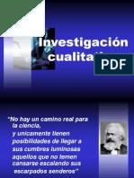 Investigación Cualitativa.
