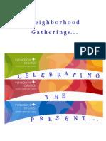 Neigborhood Gatherings Invite