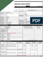 BLANK Personal Data Sheet