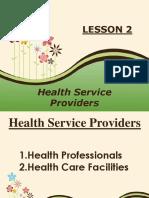 Lesson 2 Health Service Providers