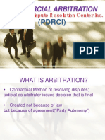 Commercial Arbitration 101 PDRCI