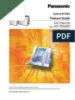 TDA Feature Manual