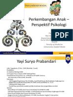 Perkembangan Anak by Yayi Suryo P Dept HBSE FK UGM 2016 (1)