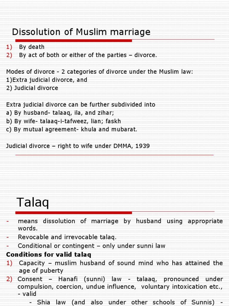 Divorce Muslim Law Marriage Divorce