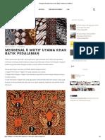 Mengenal 6 Motif Utama Khas Batik Pedalaman _ Batikbro
