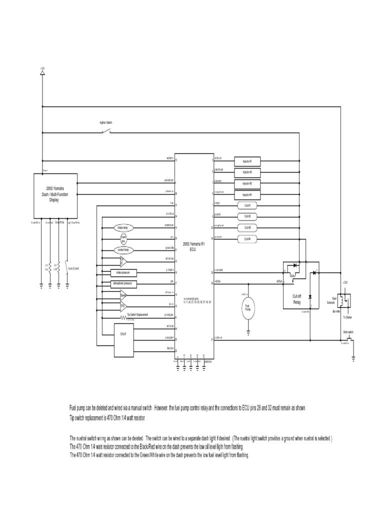 2003 - 2003 yzf-r1 ecu wiring | fuel injection | switch  scribd