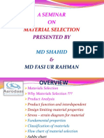A Seminar on Material-Selection