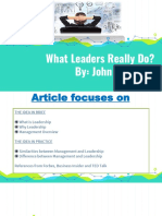 What Do Leaders Really Do