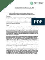 Quepos Monthly Achievement Report July 2017