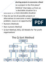 Ppt#1. Identifying and Selecting Projects to Overcome a Need (1)