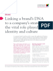 L03 Linking a Brands DNA to a Companys Strategy the Role Played by Identity and Culture