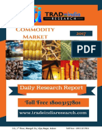 Commodity Daily Prediction Report for 29-08-2017 by TradeIndia Research