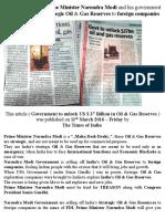 """""""…Desh Drohi..."""" Prime Minister Narendra Modi Selling Off India's Strategic Oil & Gas Reserves"""