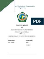 Report  on transformer