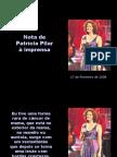 Nota de Patricia Pilar a imprensa