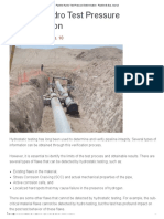 Pipeline Hydro Test Pressure Determination - Pipeline & Gas Journal