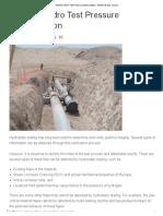 Pipeline Hydro Test Pressure Determination - Pipeline & Gas Journal