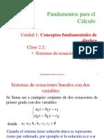 02.2 Sistemas de Ecuaciones en Varias Variables