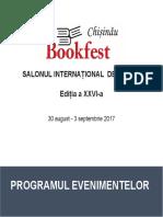 Catalog Evenimente Bookfest Chisinau 2017