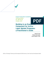 Building in an Evalualtion Component for Active Labor Market Programs