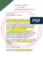 Reglamento de Estudios