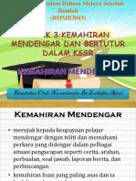Kajian Kurikulum Bahasa Melayu Sekolah Rendah