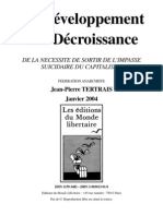 Du développement à la décroissance - Jean-Pierre Tertrais