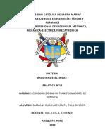 Informe 13 Maquinas Electricas i