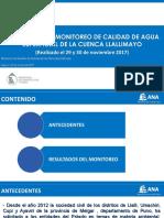 Monitoreo Calidad de Agua Llallimayo (29 y 30 de Noviembre 2016)