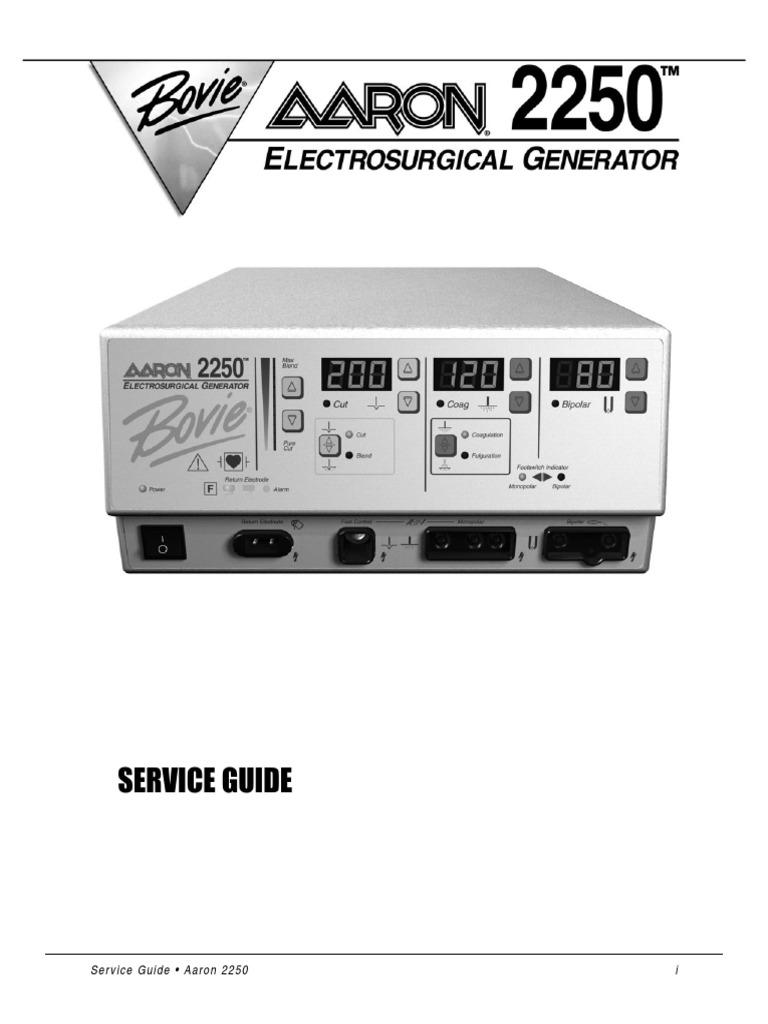 bowie aaron 2250 esu service manual electrical connector rh es scribd com