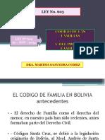 LEY 603 CÓDIGO DE FAMILIAS DE BOLIVIA
