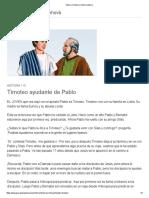 Pablo y Timoteo _ Historia Bíblica