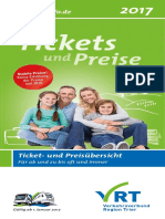 Flyer Ticketpreise