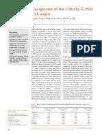 Management of Criticalli Ill Child Sepsis