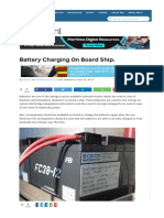 Battery Charging on Board Ship.