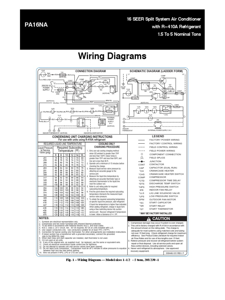 wiring diagrams pa16na Carrier Rooftop Wiring Diagrams