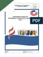 PCQ001 - Programa Anual de Seguridad y Salud Ocupacional