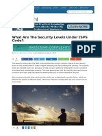 What Are the Security Levels Under ISPS Code