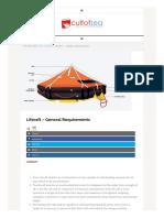 Liferaft – General Requirements