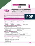 Ieo Sample Paper Class-5