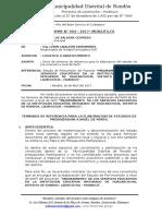 INFORME N° 004 -2017-MDR UF LCS TDR MEJORAMIENTO DE SERVICIOS EDUCATIVOS HUACARCOCHA