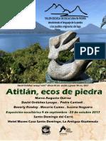 Catálogo Exhibición Atitlán, Ecos de Piedra, Taller-Escuela de escultura en Piedra