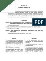 Cuentas Rubro 25 y 26 plan contable para insituciones financieras