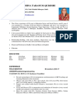 CV Sample for donor