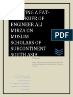REFUTING A FATAVA OF KUFR  ON MUSLIM SCHOLARS  OF SUBCONTINENT ISSUED BY ALI MIRZA - Copy.docx
