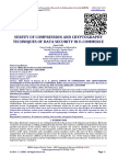 SURVEY OF COMPRESSION AND CRYPTOGRAPHY TECHNIQUES OF DATA SECURITY IN E-COMMERCE