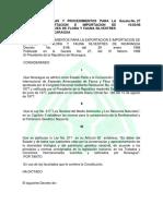 Decreto 8-98, Procedimientos Exportación e Importación de Flora y...