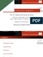 Aula 6 - Calculo IV - Aplicações de Integrais Duplas