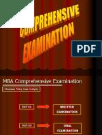 (2) Comprehensive Examination