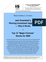 Magic Formula Stocks 2009